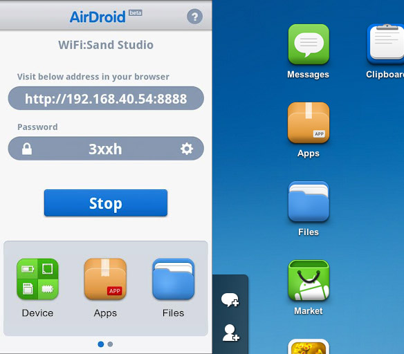android 2  Controllare il vostro smartphone Android con Airdroid