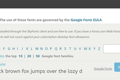 Come installare su OS X e Windows tutte le fonts di Google